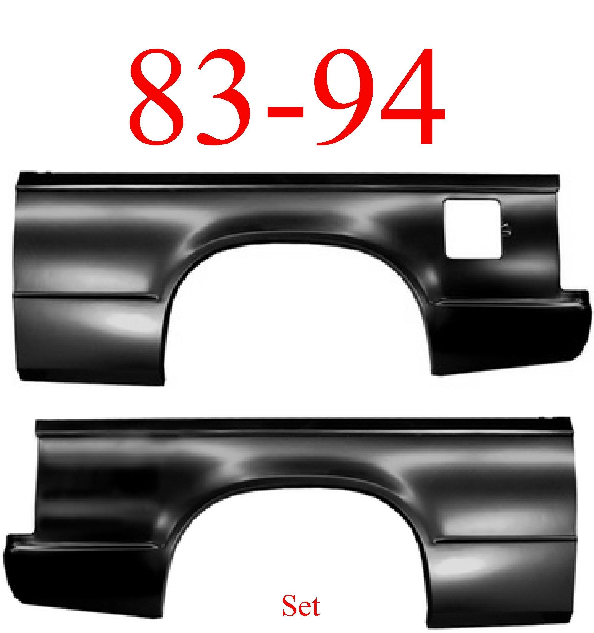 83-94 Chevy S10 Blazer Quarter Panel Set 2 Door